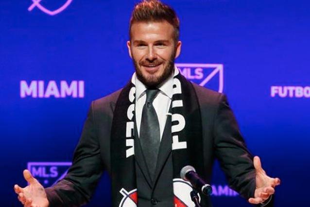 David Beckham en conferencia de prensa