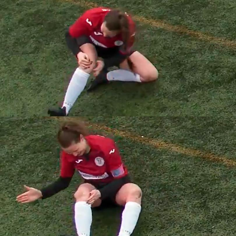 Jugadora escocesa se fractura la rodilla