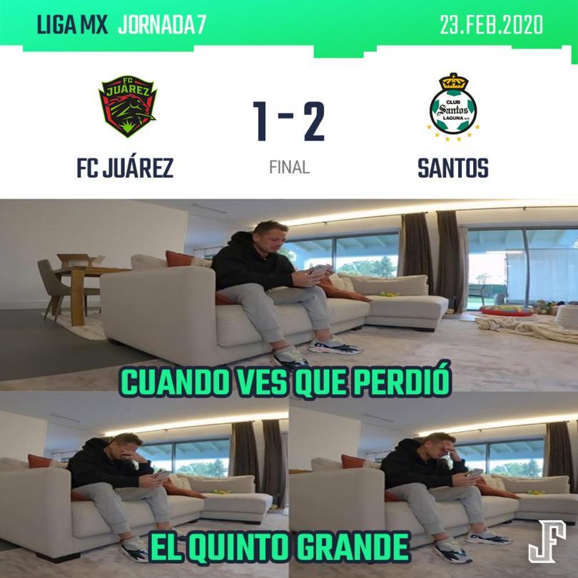 Santos se adelantó con gol de Lalo Aguirre, Juárez lo empató con gol de Flavio Santos y, con penal de último minuto, Brian Lozano le dio la victoria a los de la Comarca.