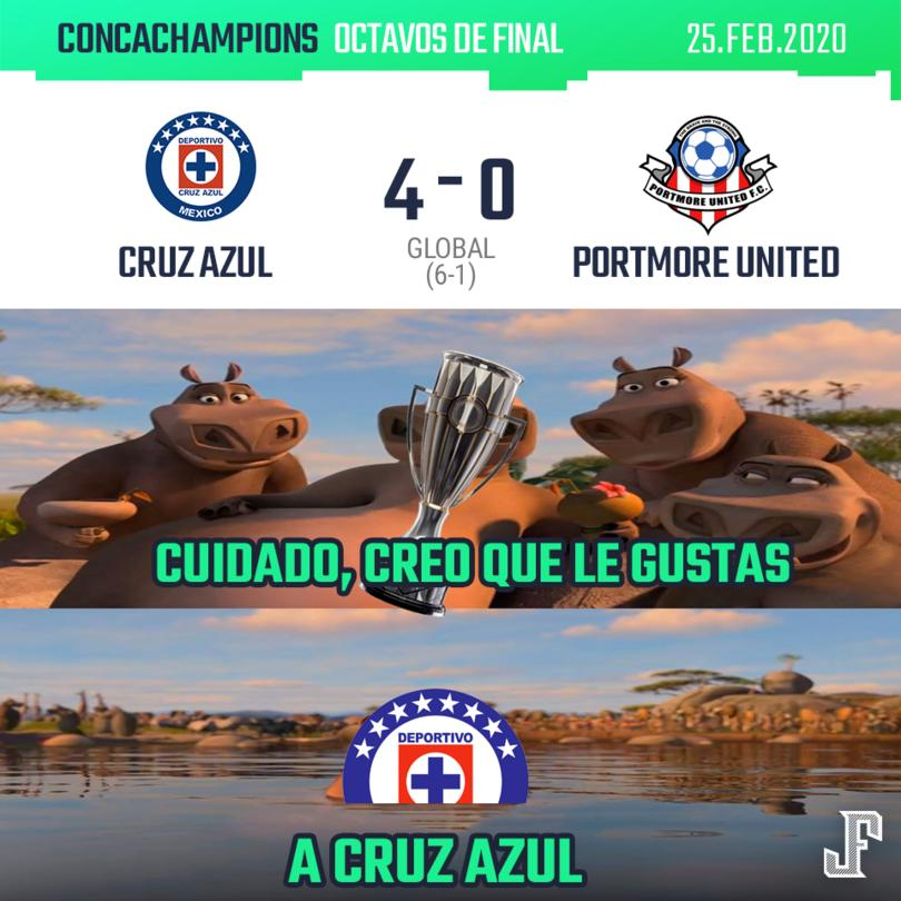 Cruz Azul 4-0 Portmore United