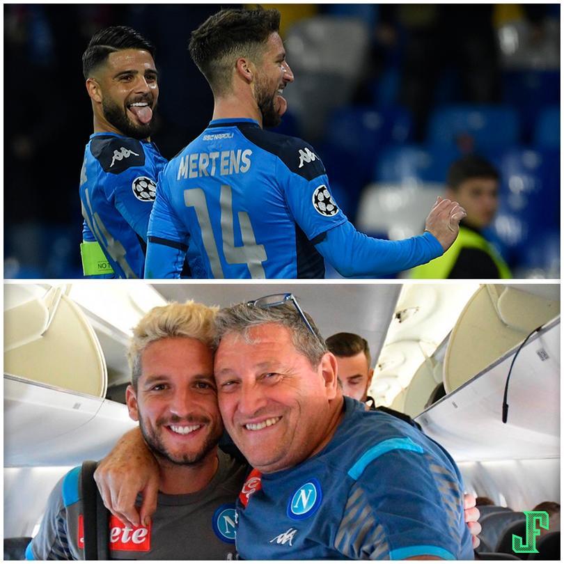 Dries Mertens le dedicó el festejo de su gol a Tommaso Starace, utilero del Napoli