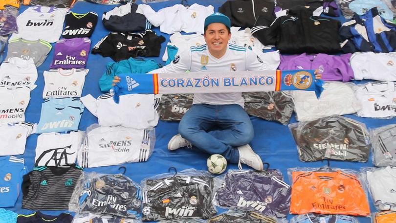 Gabriel Martínez, súper fan del Real Madrid