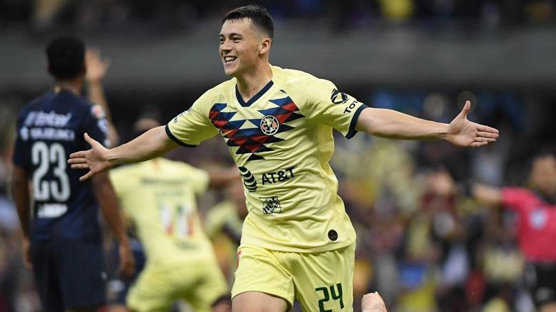 Federico Viñas debutó con América haciéndole gol a Pumas en el Apertura 2019