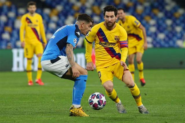 La vuelta de los octavos de Champions entre Barcelona y Napoli se jugaría a puerta cerrada