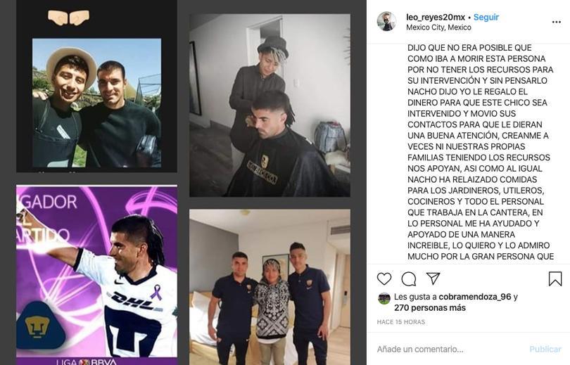 Mensaje de Leo Reyes en Instagram