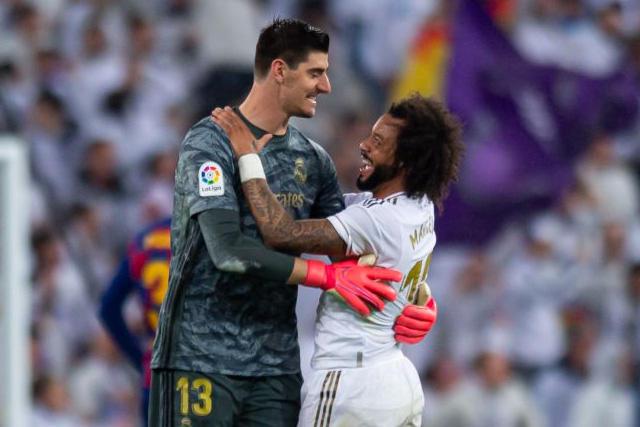 Courtois y Marcelo son baja para el Madrid ante el Manchester City