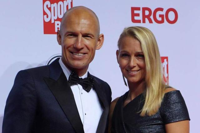 Arjen Robben y Bernardien Eillert