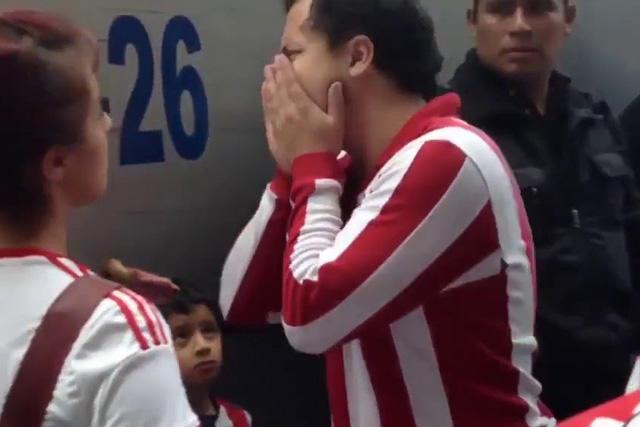 Gonzalo llora la derrota de Chivas