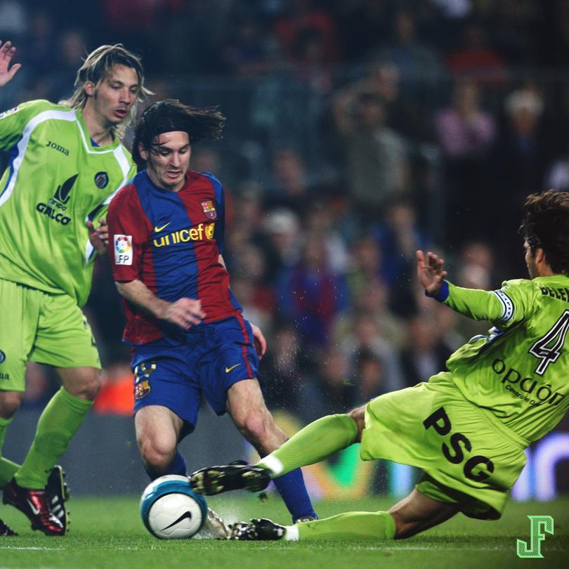 Messi burla a jugadores del Getafe