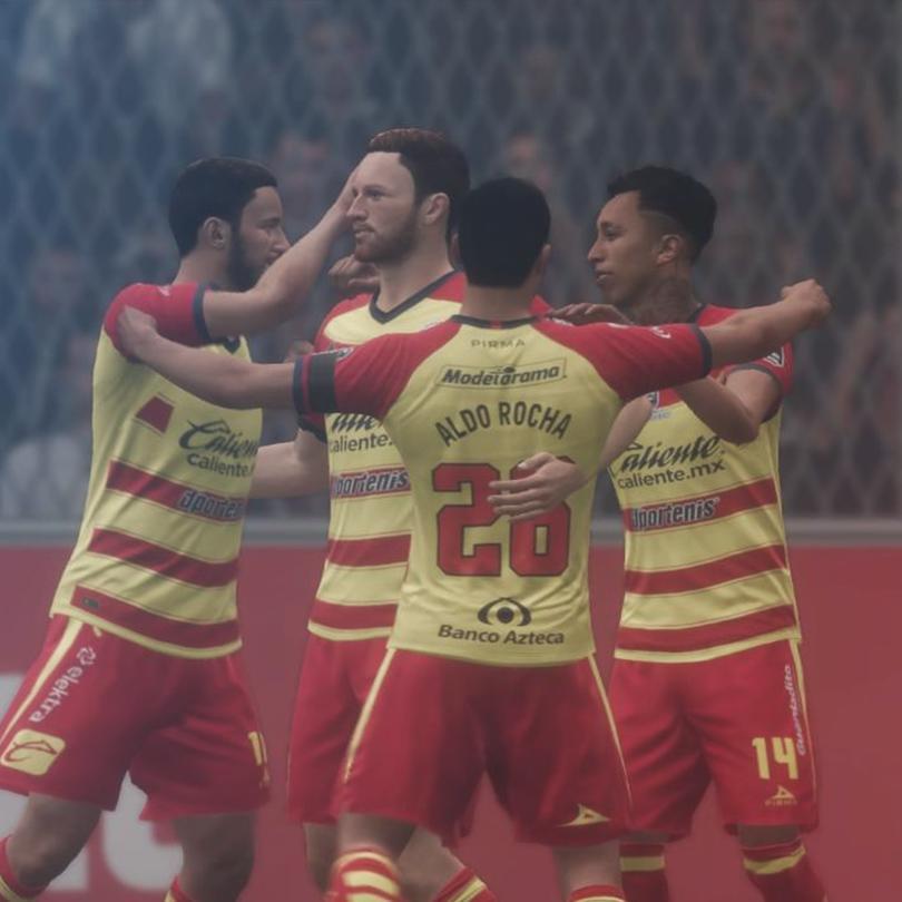 Jugadores de Morelia festejan en Fifa 20