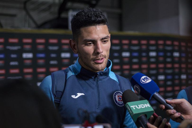 Lucas Passerini en entrevista después de un partido con Cruz Azul