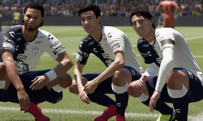 Celebración de gol del Pachuca