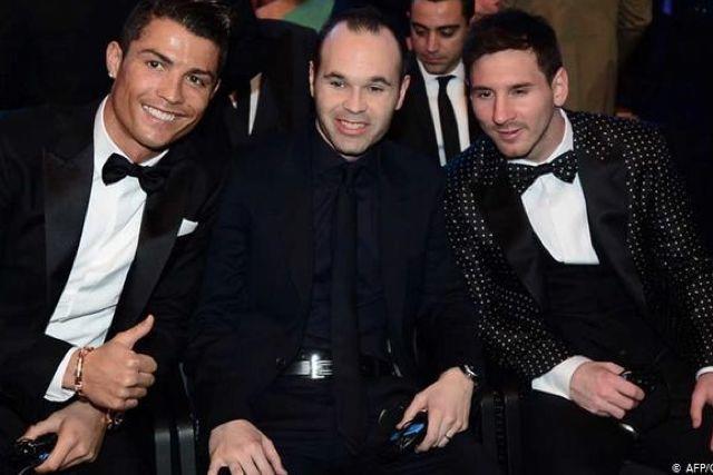Cristiano Ronaldo, Iniesta y Lionel Messi