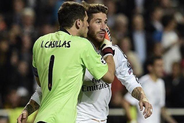 Iker Casillas con Sergio Ramos en la final de la Champions de 2014