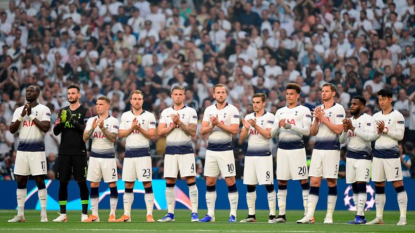 Tottenham durante la final de Champions ante el Liverpool