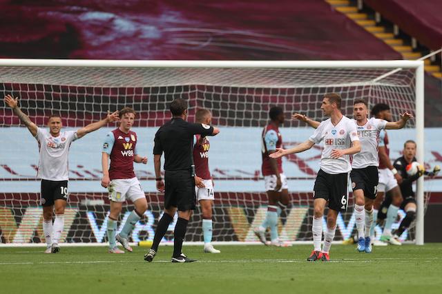 Tecnología le quita un gol válido al Sheffield United