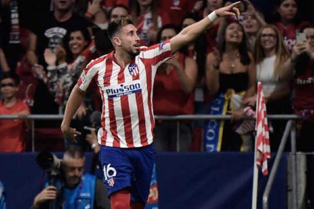 Héctor Herrera dio un partidazo en la victoria del Atlético 5-0 sobre Osasuna