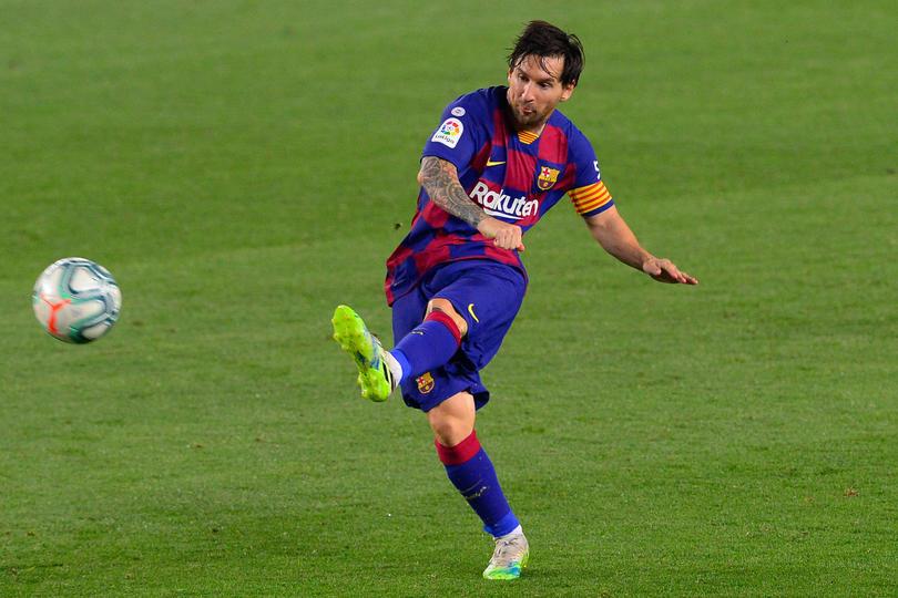 Messi le dio una increíble asistencia a Leo Suárez