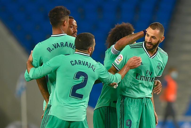 Real Madrid festeja un gol en La Liga