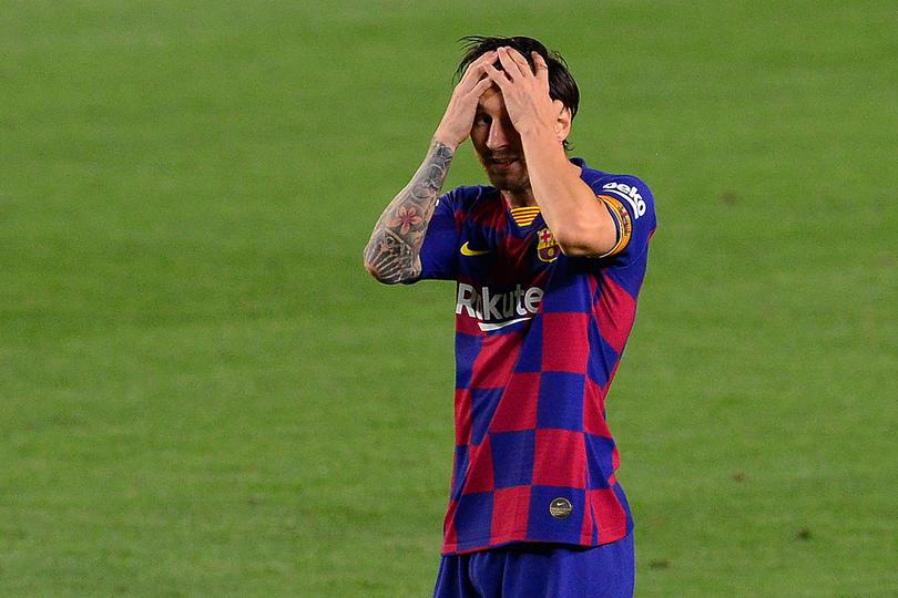 Messi durante un partido de La Liga