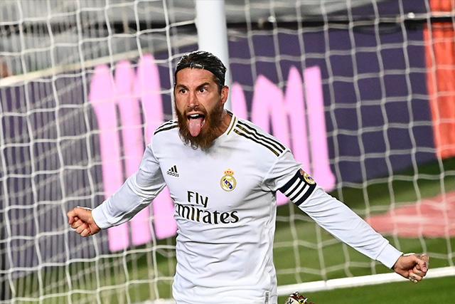 Sergio Ramos anotó el gol del triunfo del Real Madrid ante el Getafe