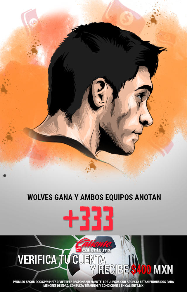 Si crees que Los Wolves le ganan al Arsenal y ambos equipos anotan, apuesta en Caliente y llévate mucho dinero.