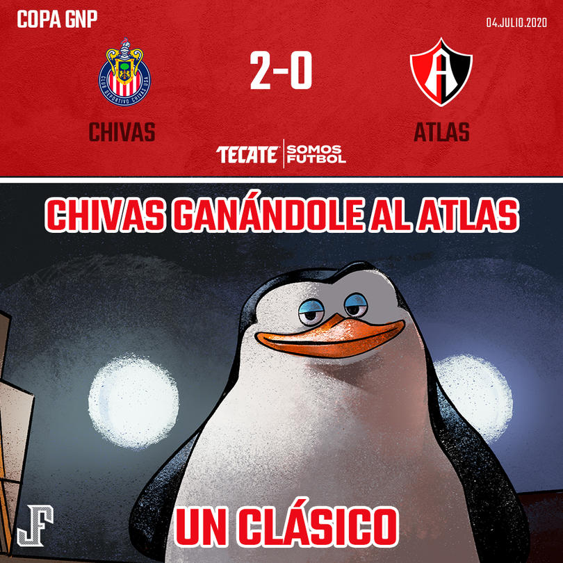 Chivas le ganó 2-0 al Atlas