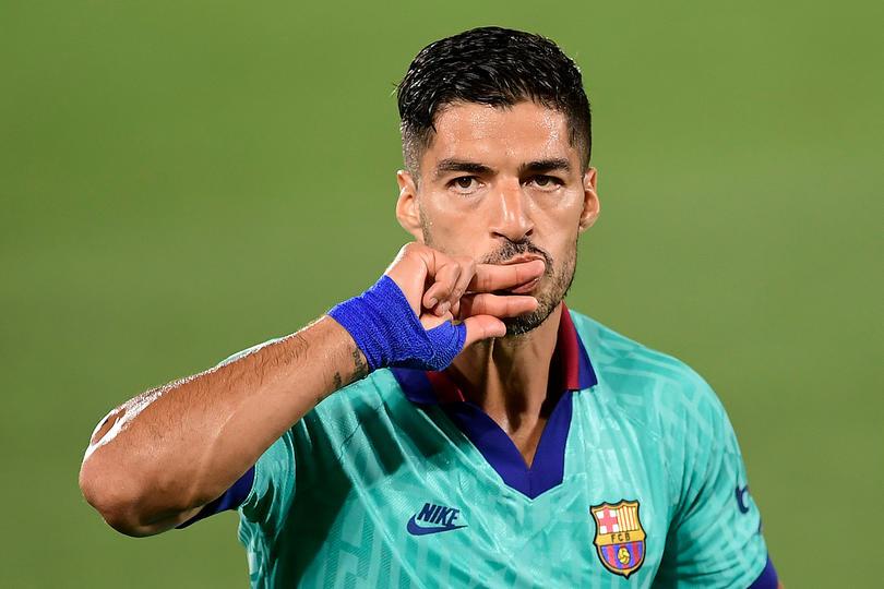 Así fue el golazo de Suárez frente al Villarreal.