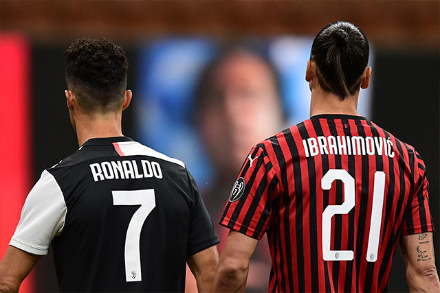 Cristiano Ronaldo y Zlatan Ibrahimovic