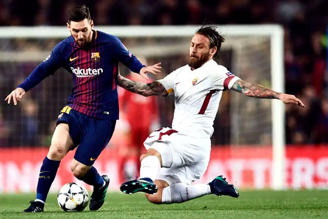 Lionel Messi y Daniele De Rossi