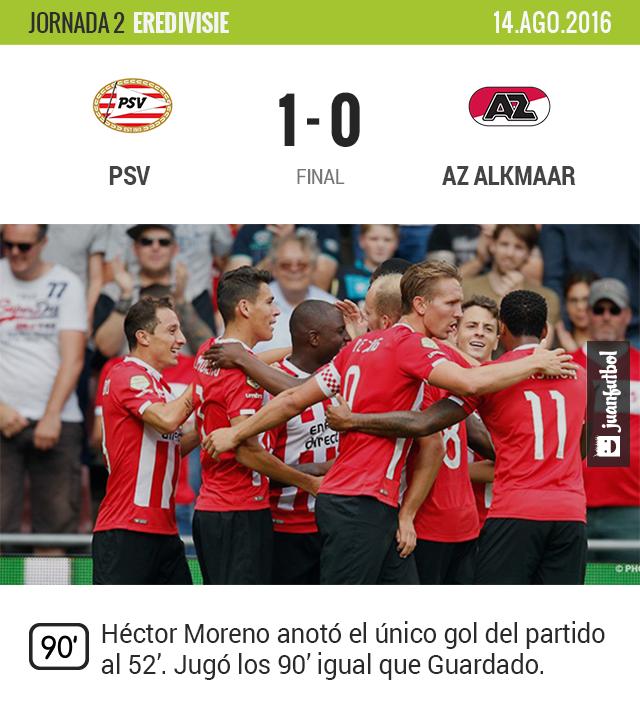Moreno le da los tres puntos al PSV