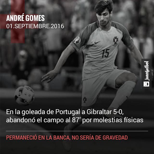 ... rojas en el Barça; André Gomes lesionado en el juego con Portugal