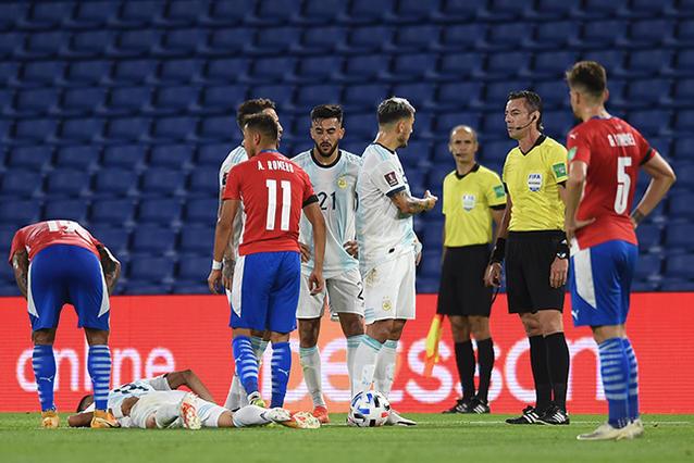 Exequiel Palacios termina con fractura en la columna tras el Argentina vs Paraguay