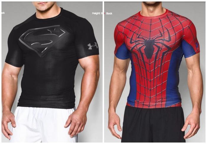 voltereta falta de aliento ropa interior  Under Armour lanza camisetas estilo Marvel