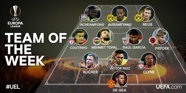 Así se conforma el once ideal de la semana de la Europa League