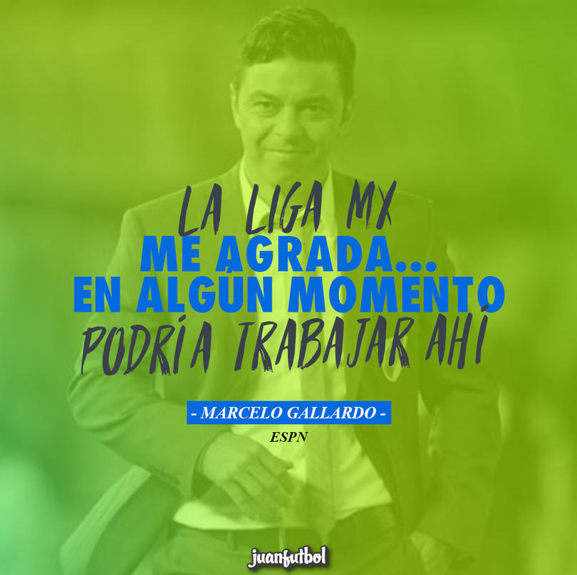 Marcelo Gallardo no descarta dirigir en México