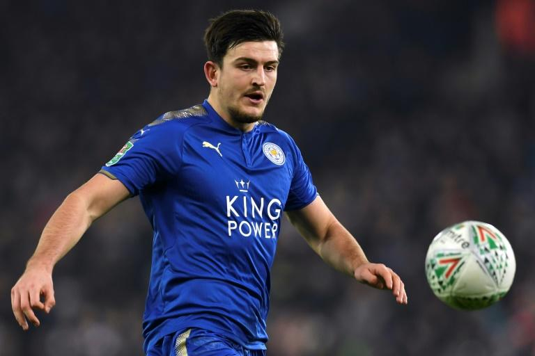Harry Maguire con Leicester