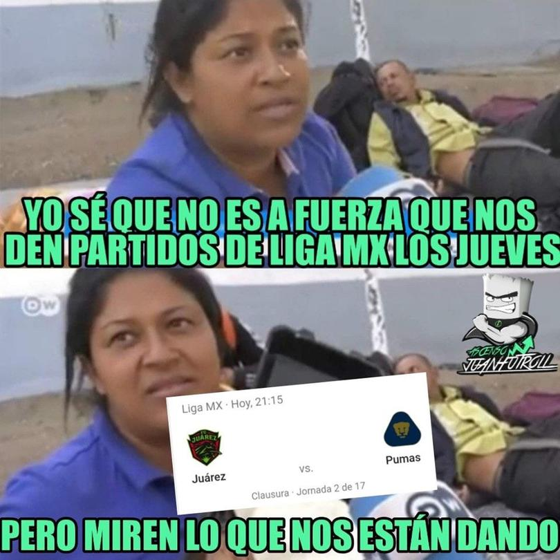 Los Memes Del Empate Entre Juarez Y Pumas En El Thursday Night Football