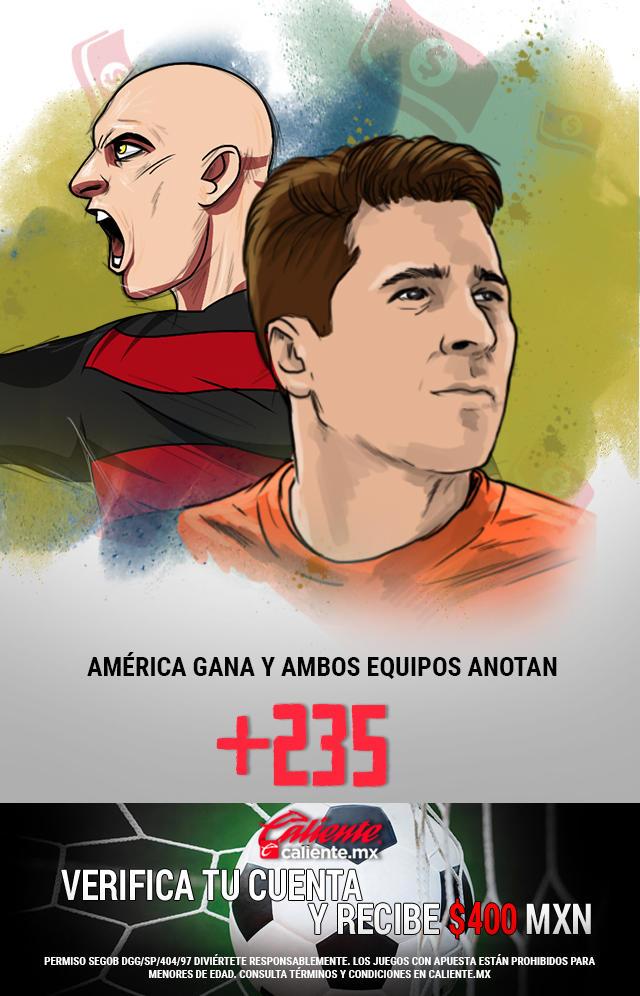 Si crees que América gana vs Tijuana y ambos equipos anotan gol, apuesta en Caliente y llévate mucho dinero.