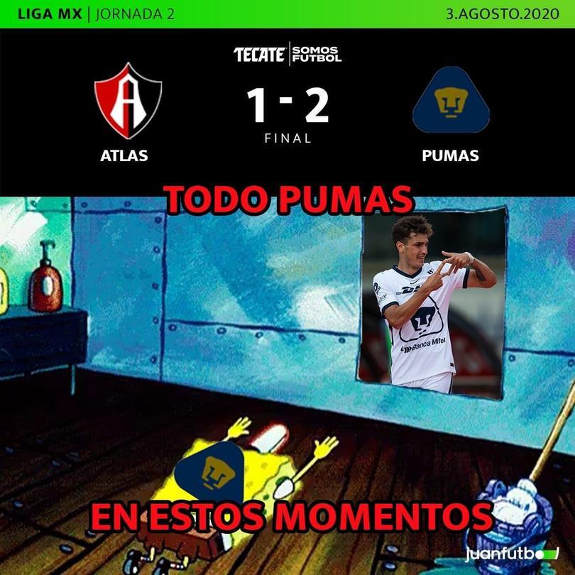 Pumas venció 2-1 a Atlas