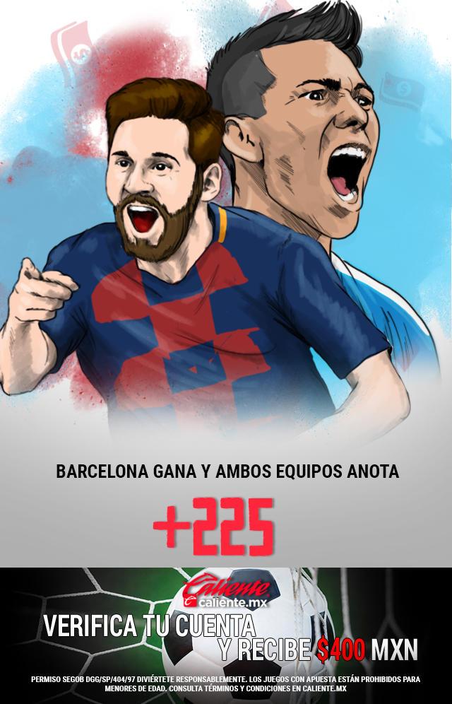 Si crees que Barcelona le gana al Napoli y ambos equipos anotan gol, apuesta en Caliente y llévate mucho dinero.