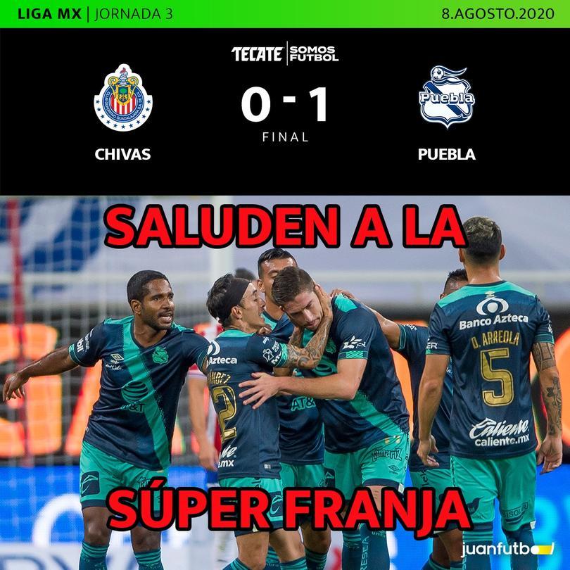 Puebla alcanza su séptimo partido sin perder