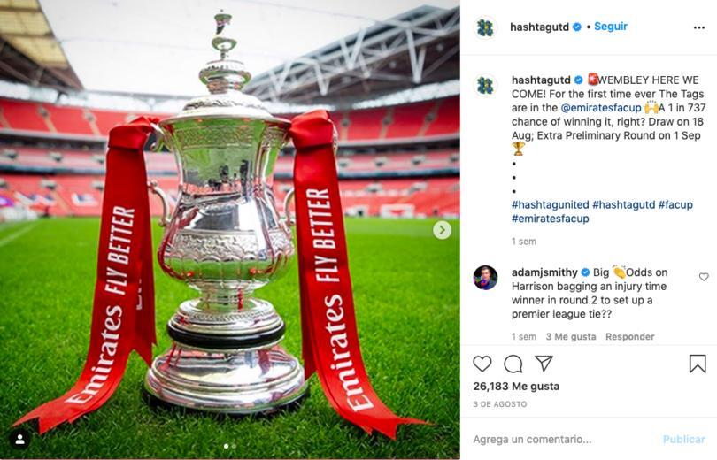 Hashtag United jugará la FA Cup en la 2020-21
