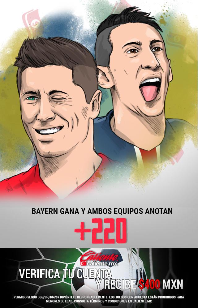 Si crees que el Bayern de Múnich le gana al PSG en la Final de la Champions y ambos equipos anotan gol, apuesta en Caliente y llévate mucho dinero.