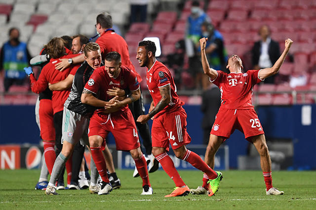 Bayern festeja su título en la Champions League