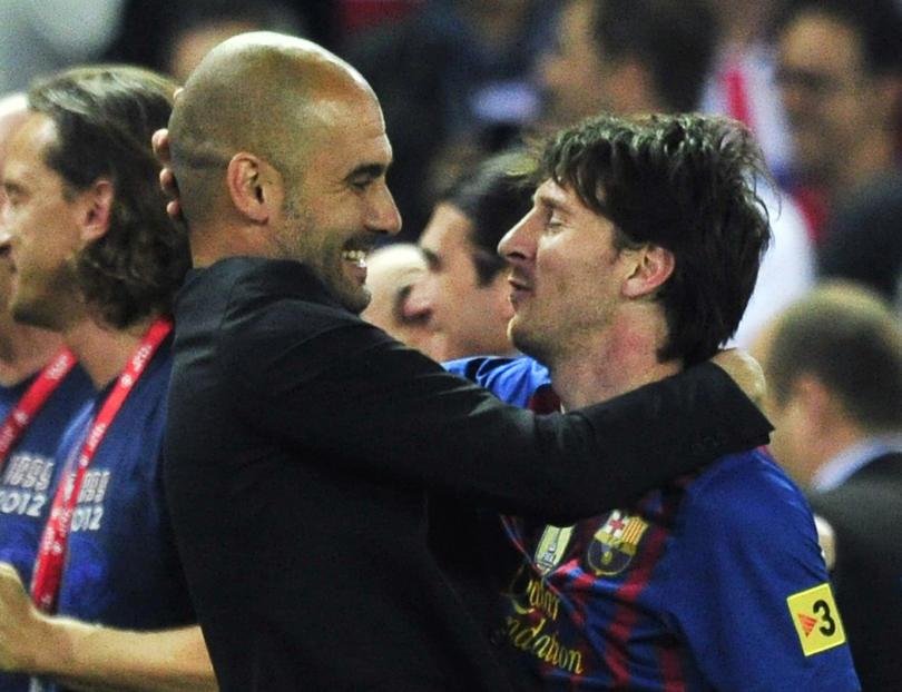 Messi y Guardiola en el Barcelona