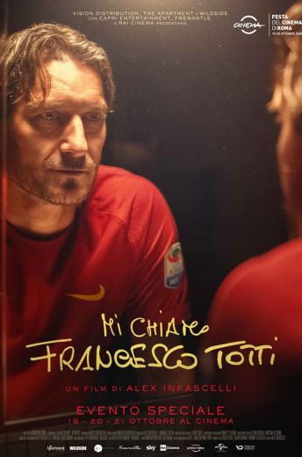 "Póster de ""Mi chiamo Francesco Totti"" documental sobre la vida del exjugador de la Roma"