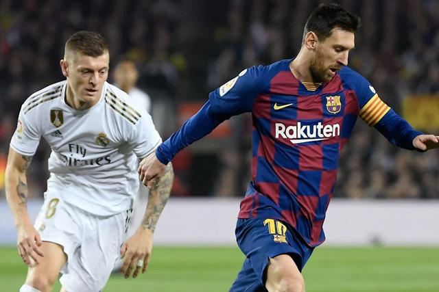 Toni Kroos y Lionel Messi