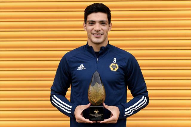 Raúl Jiménez fue elegido el Mejor de la Temporada por los jugadores de los Wolves