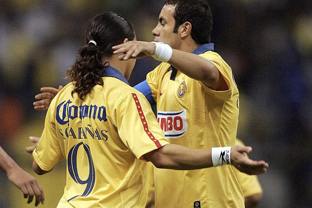 Salvador Cabañas y Cuauhtémoc Blanco